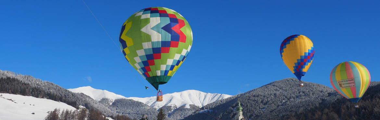 Heissluftballon Alpen