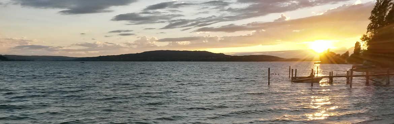 Bodensee Insel Reichenau Sonnenuntergang