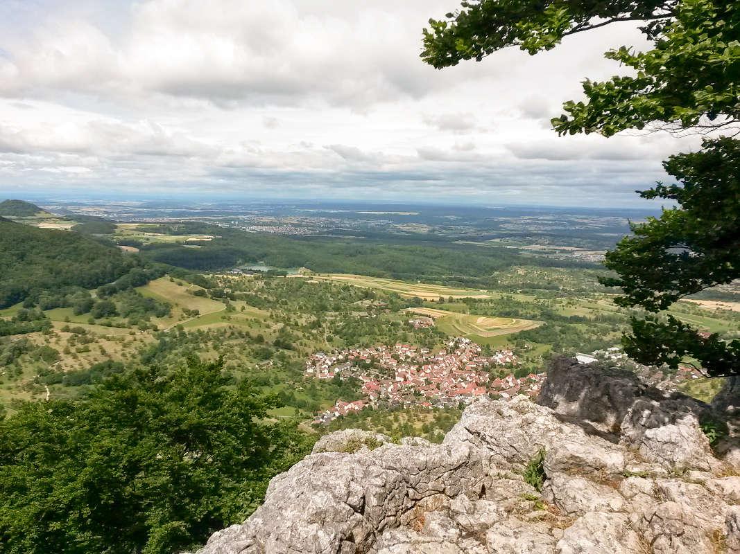 Klettern Wiesfels Schwäbische Alb