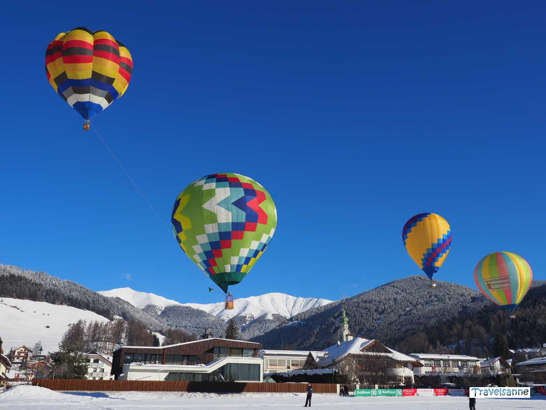 "Modellballone beim ""Dolomiti Balloonfestival 2018"" in Toblach / Südtirol"