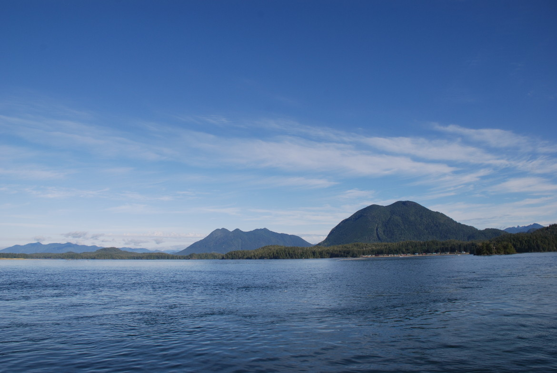 Inseln und Berge Clayoquot Sound rund um Tofino auf Vancouver Island