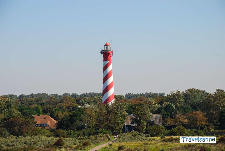 Leuchtturm West Schouwen bei Haamstede in Zeeland, Holland