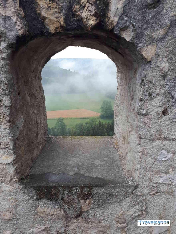 Blick von Burg Derneck ins Große Lautertal, Schwäbische Alb