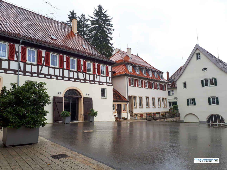 Fachwerkhäuser im Haupt- und Landgestüt Marbach