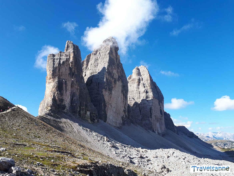 Die Drei Zinnen, das Wahrzeichen des UNESCO Weltnaturerbe Dolomiten