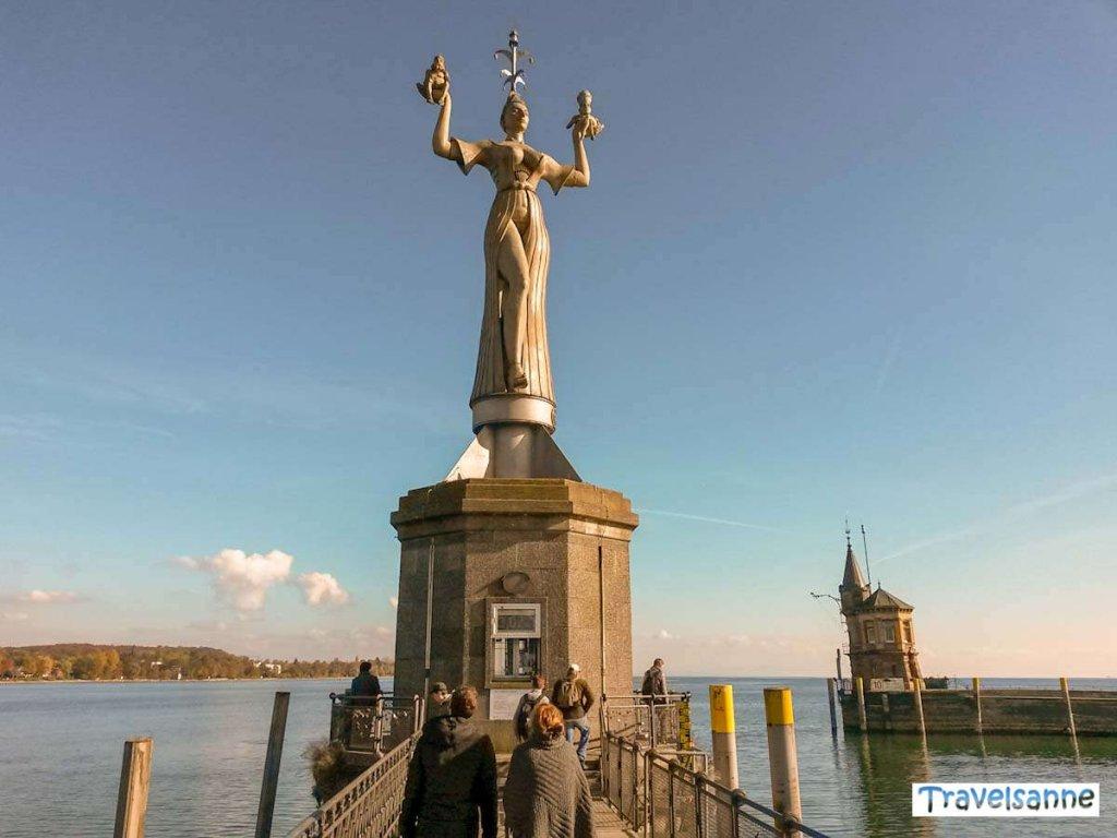 Touristenattraktion: Die berühmte Imperia am Konstanzer Hafen