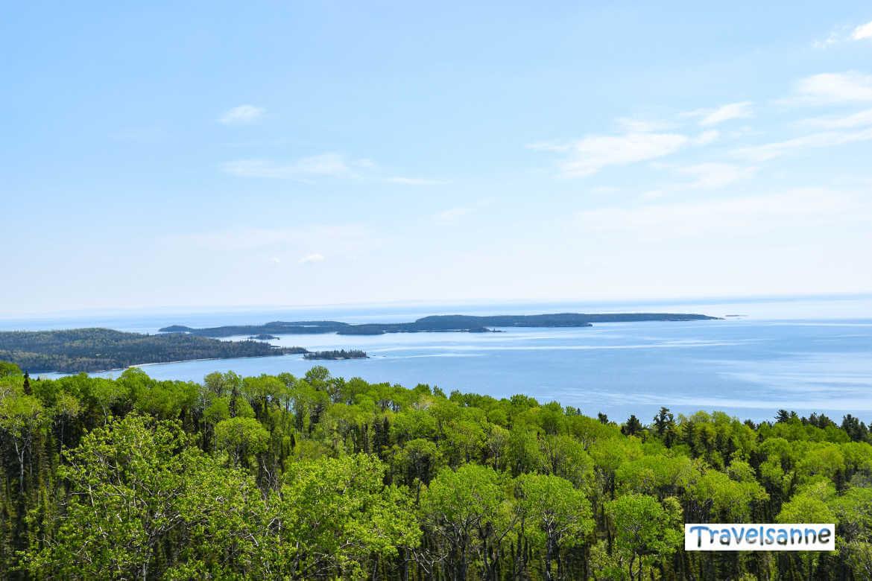 Blick auf den Oberen See vom Superior Hiking Trail aus