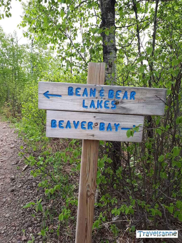 Wegweiser auf dem Superior Hiking Trail, einem der schönsten Wanderwege der USA