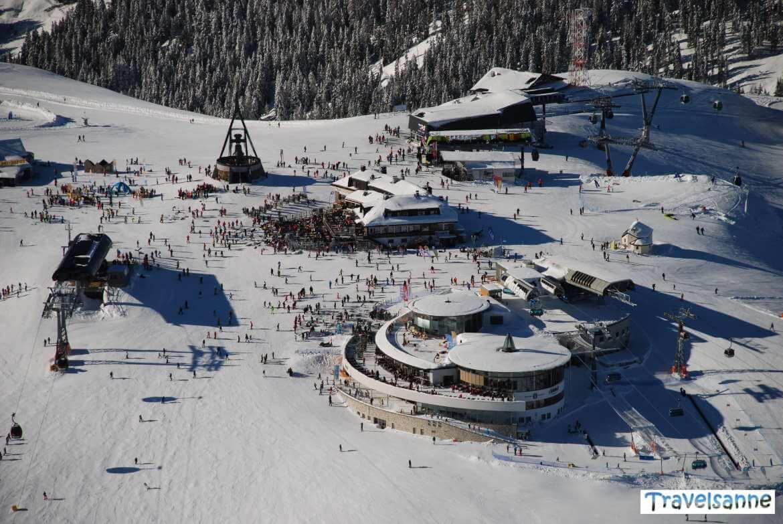 Blick auf den Skizirkus am Kronplatz