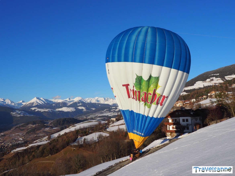 Sanfte Ballonlandung bei St. Andrä oberhalb von Brixen