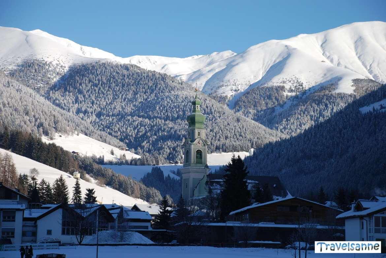Wintermorgen in Toblach im Hochpustertal