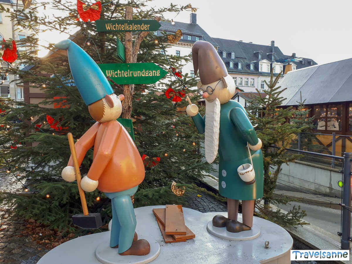 Wichtel auf dem Annaberger Weihnachtsmarkt