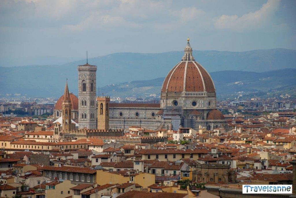Der berühmte Blick vom Piazzale Michelangelo auf den Dom von Florenz