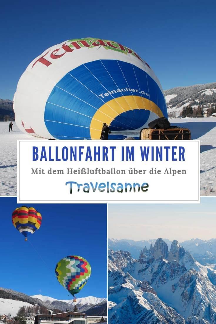 PIN Ballonfahrt Dolomiten