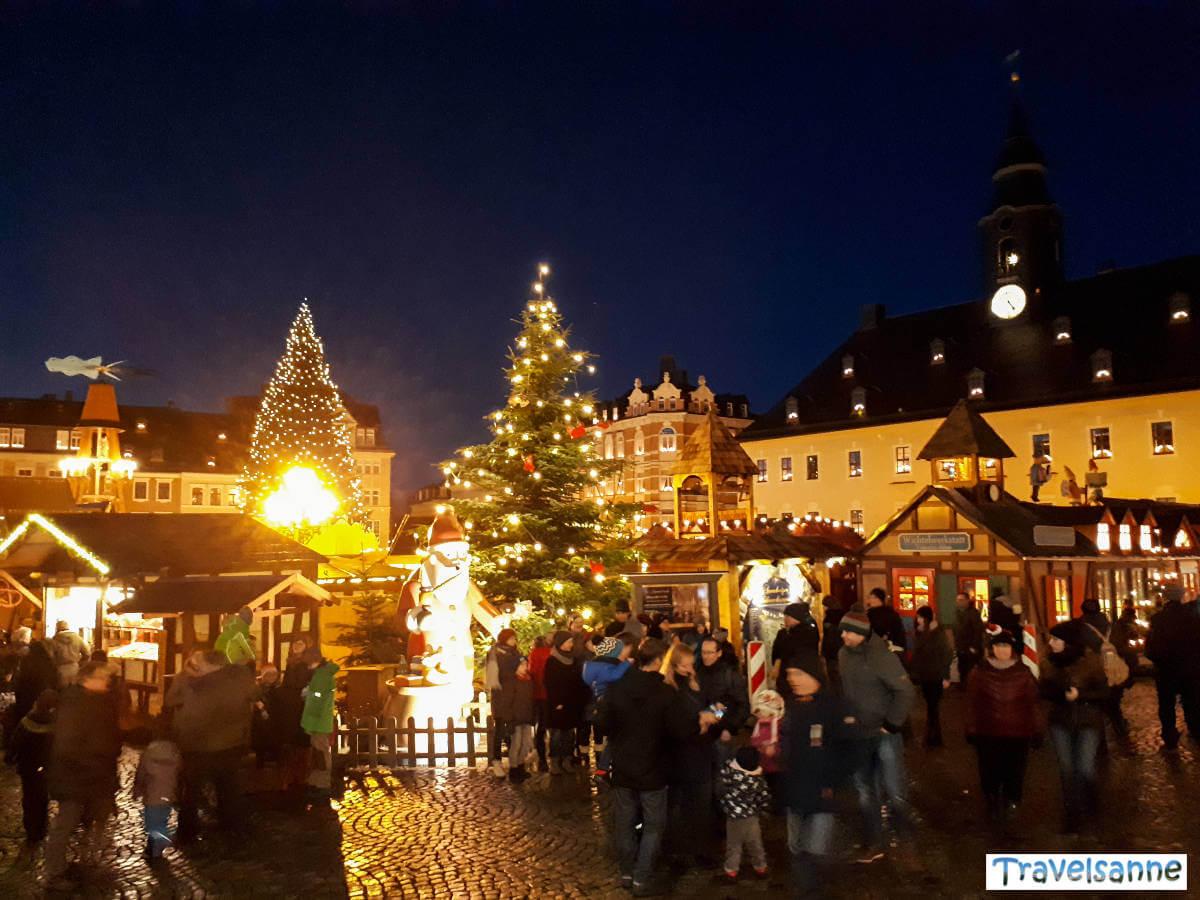 Weihnachtsstimmung in Annaberg-Buchholz im Erzgebirge