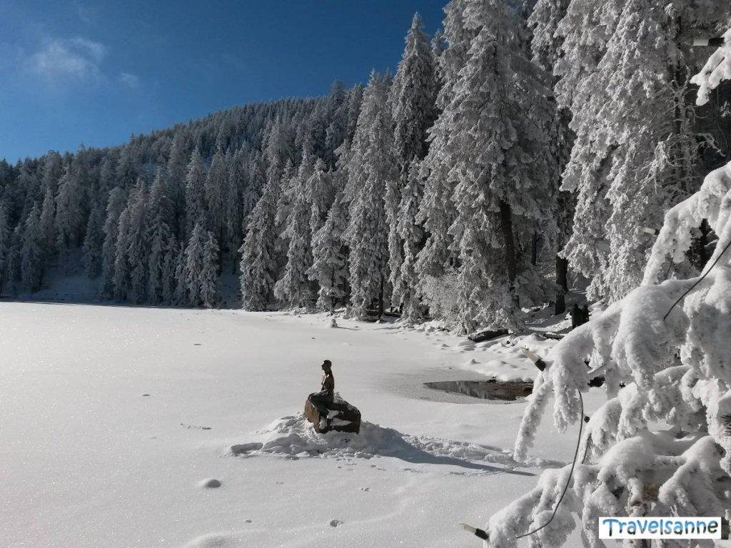 Winterlicher Besuch bei der Jungfrau vom Mummelsee