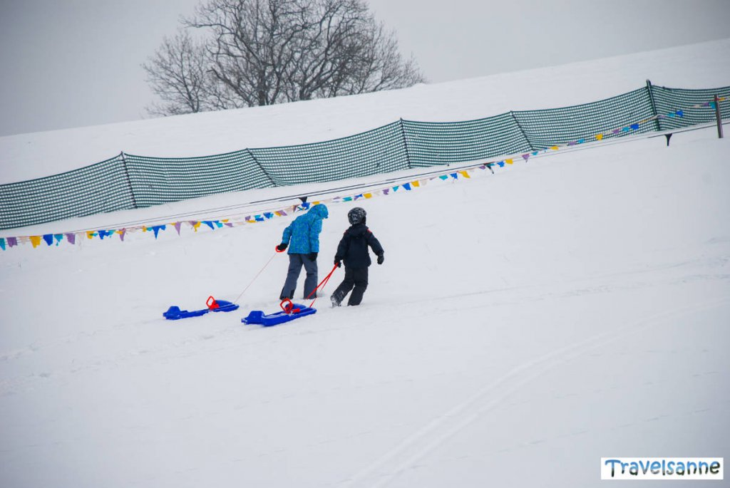 Rodelspaß am Skilift in Sonnenbühl-Undingen