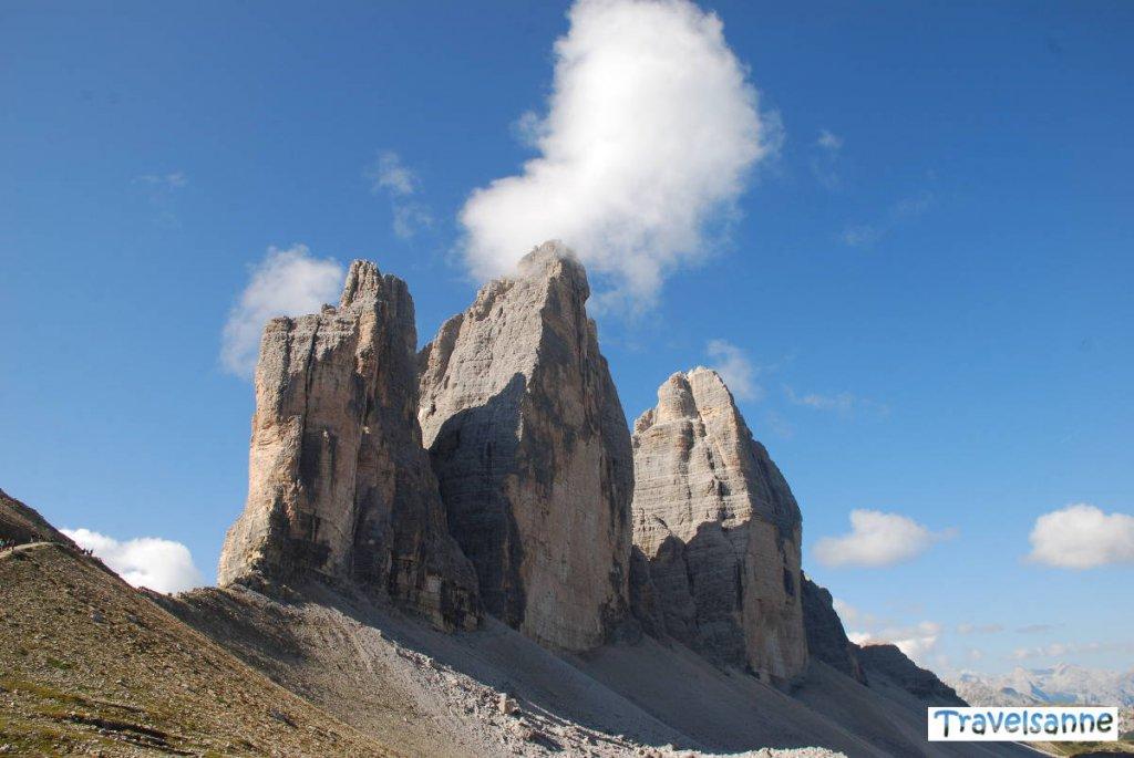 Wanderung rund um die Drei Zinnen in den Dolomiten