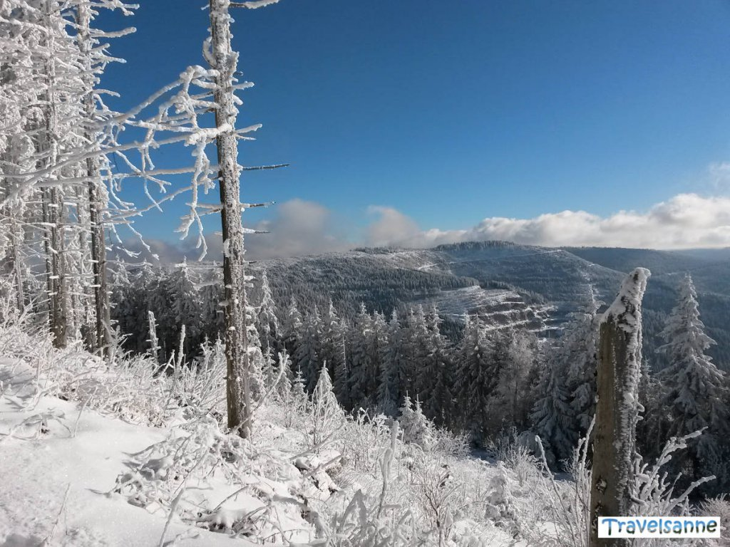 Traumhafter Wintertag an der Schwarzwaldhochstraße