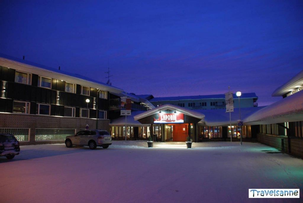 Das Hotel Laponia in Arvidsjaur in Schwedisch Lappland im Winter