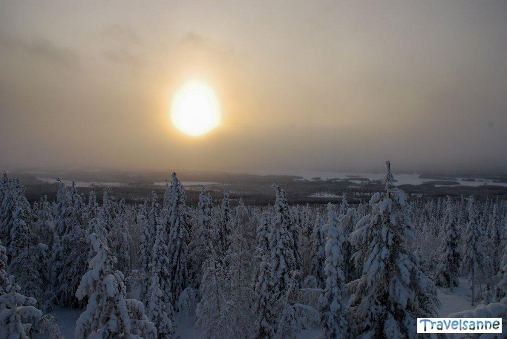 Traumhafter Blick über die Wälder und Seenlandschaft