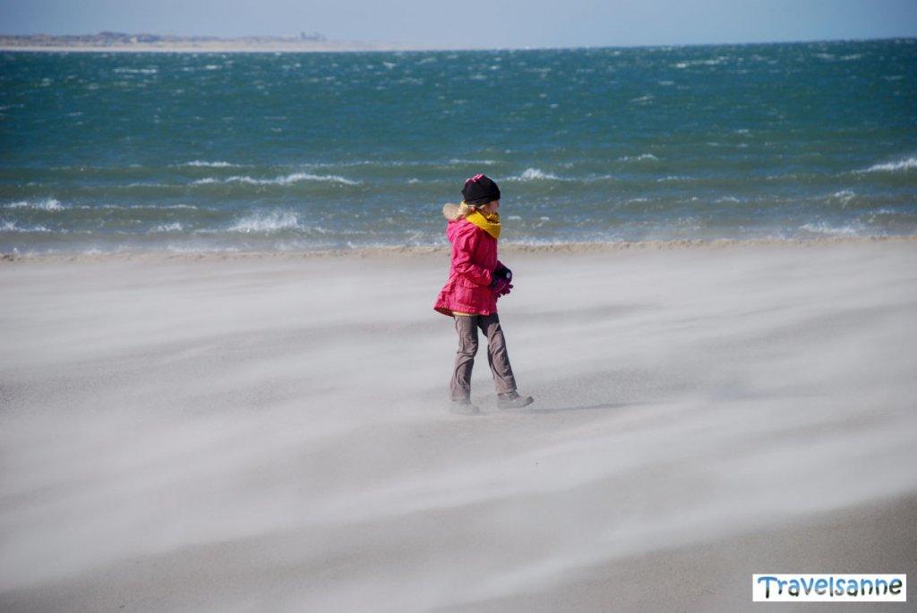 Strandspaziergang auf Norderney mit Kindern