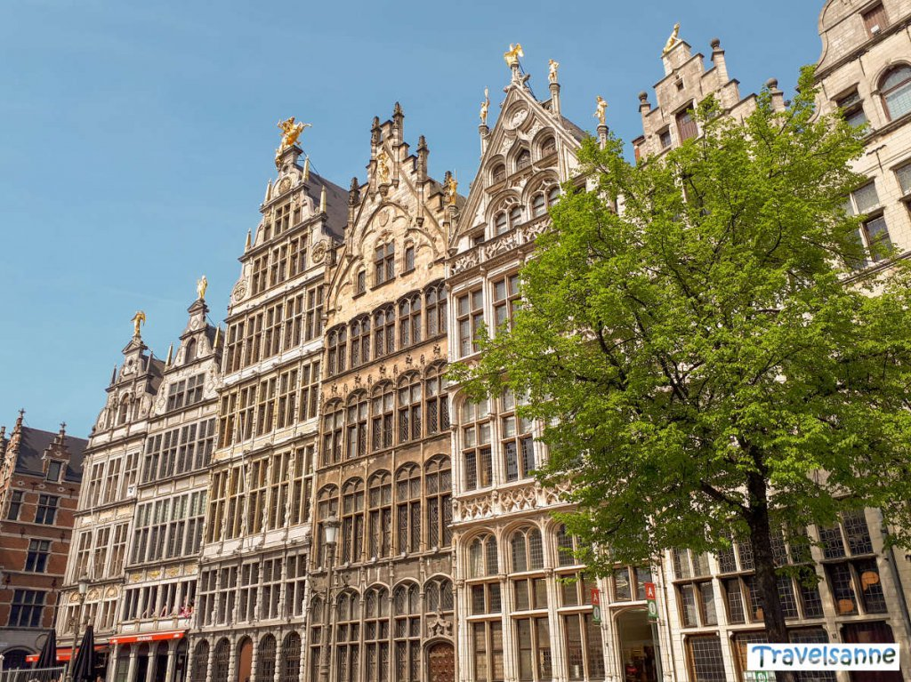 Antwerpens Gildehäuser am Grote Markt