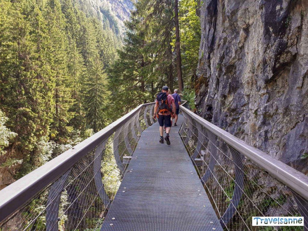 Auf dem wildromantischen Passerschluchtenweg