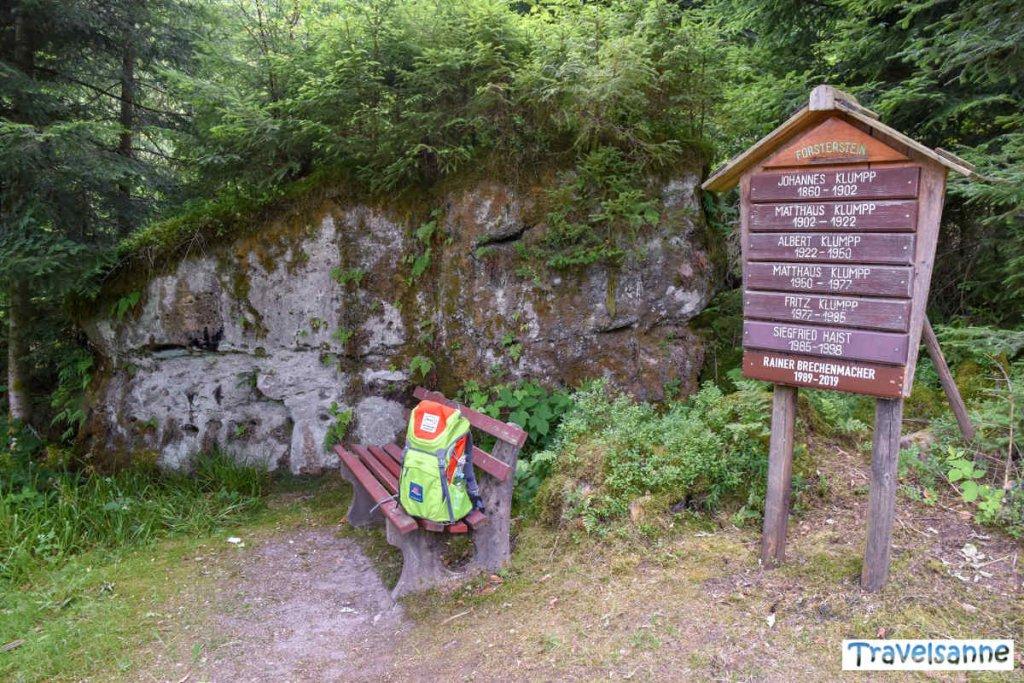 Rätselplatz #7: Der Baiersbronner Försterstein