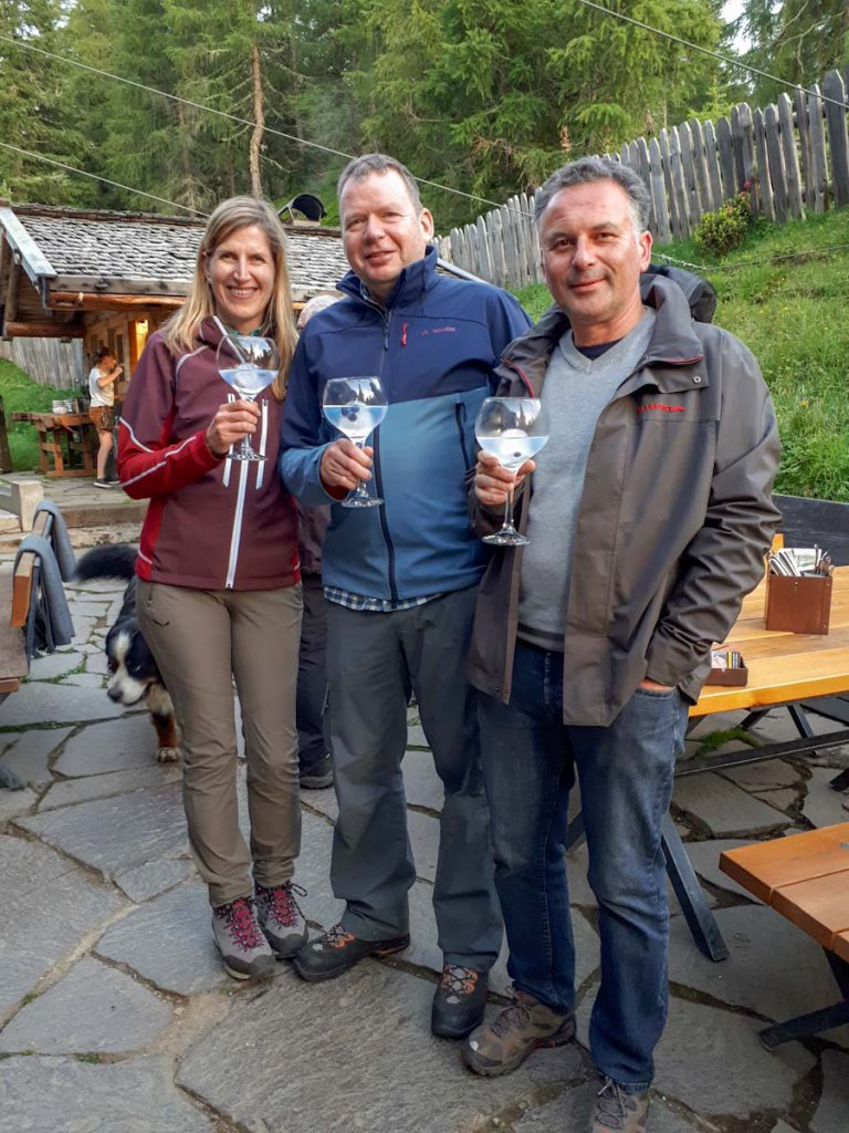 Abschluss unseres Südtirol Kurzurlaubs: Gin auf der Gompm Alm