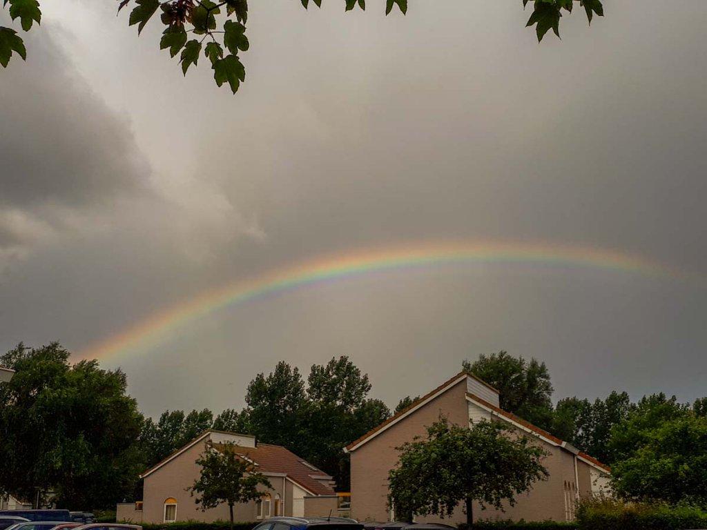 Zum Abschied vom Familienurlaub in Zeeland gibt es einen Regenbogen für uns