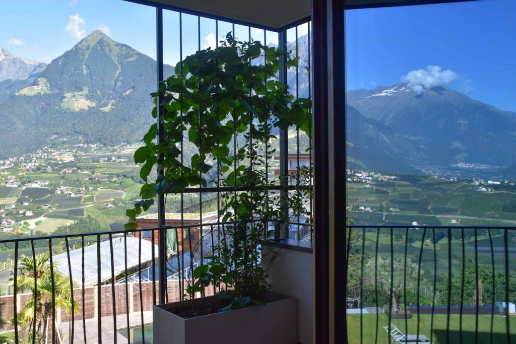 Faszinierender Ausblick von meinem Zimmer im Hotel Der Weinmesser