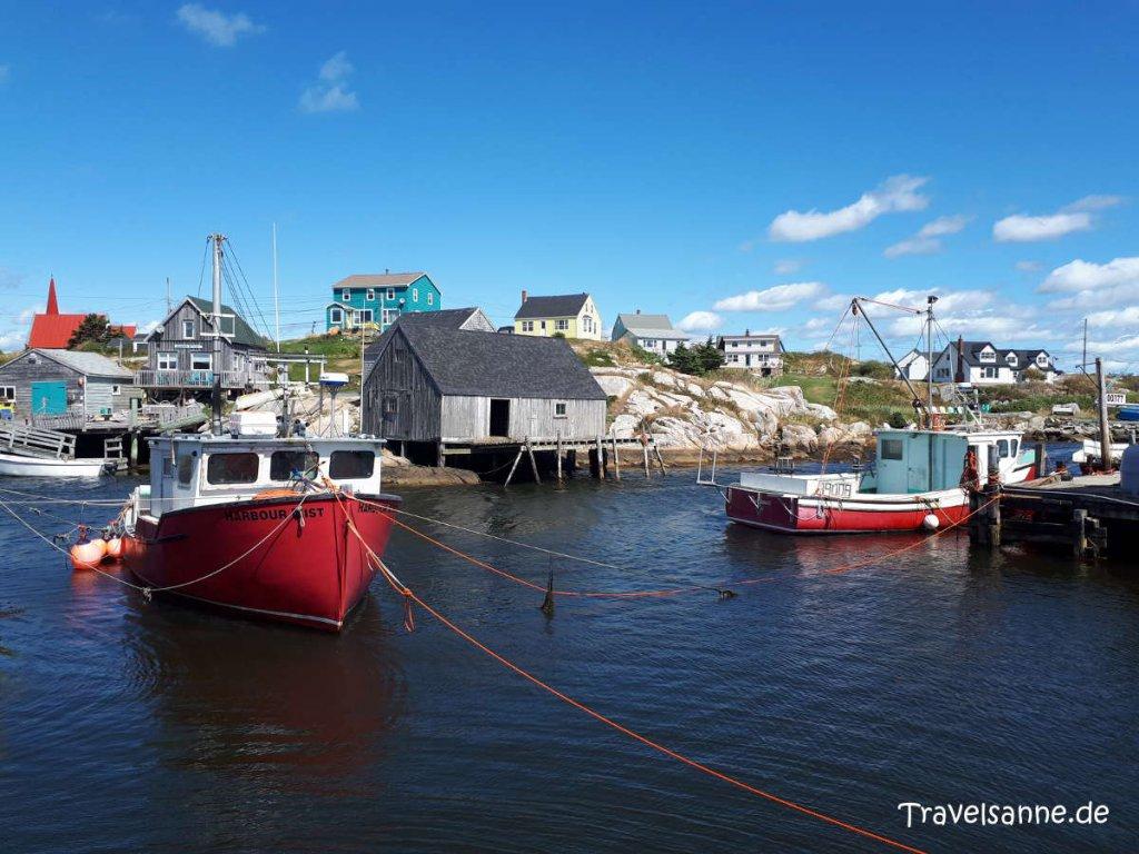 Das berühmte Fischerstädtchen Peggy's Cove nahe Halifax beim gleichnamigen Leuchtturm
