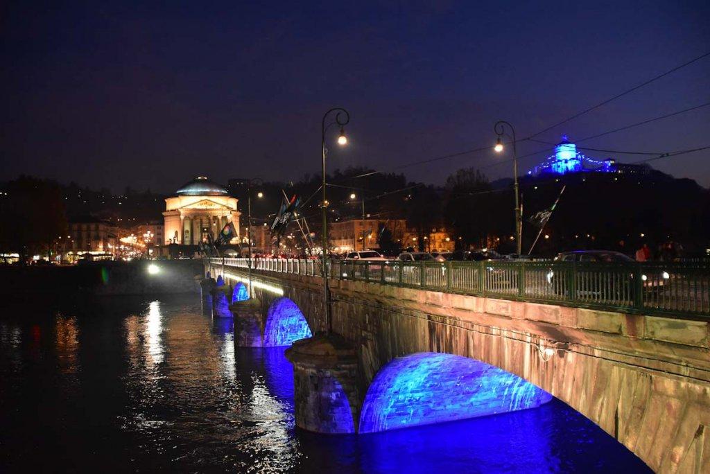 Turins Sehenswürdigkeiten bei Nacht