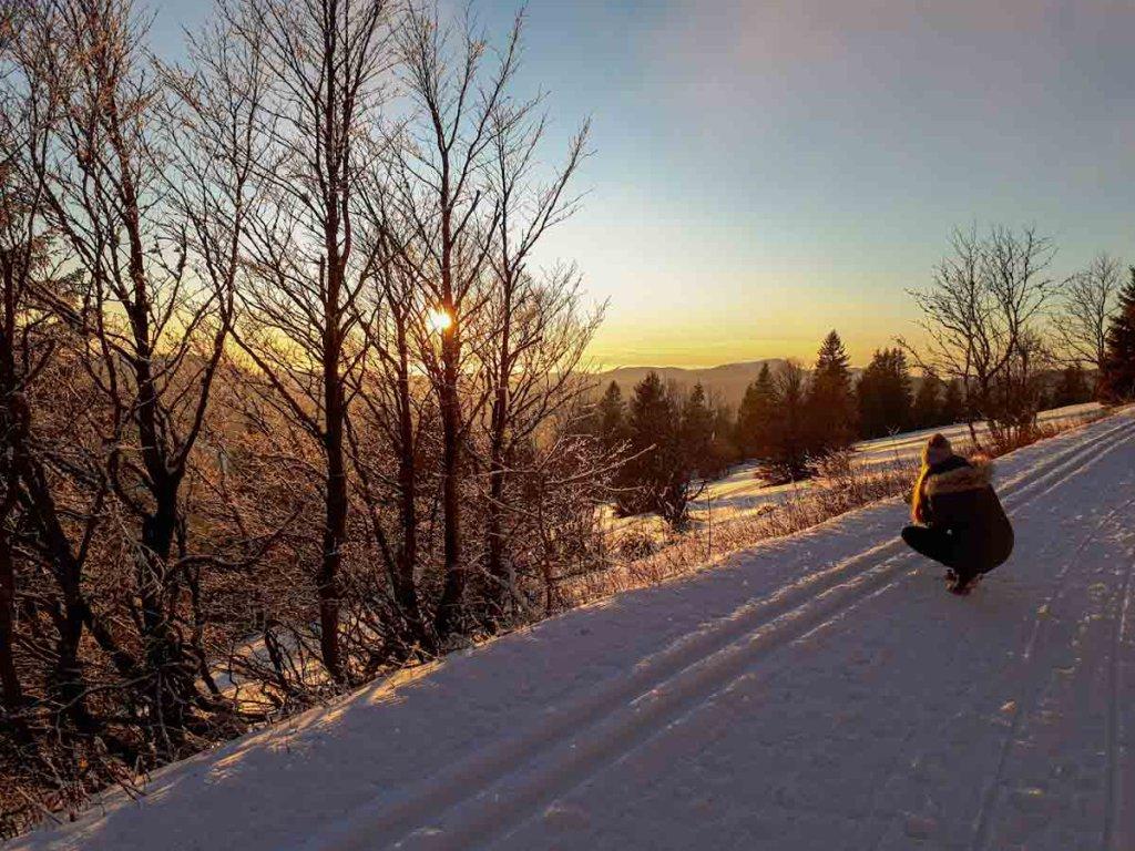 Einer der schönsten Schwarzwald Fotospots: Der Feldberg bei Sonnenuntergang