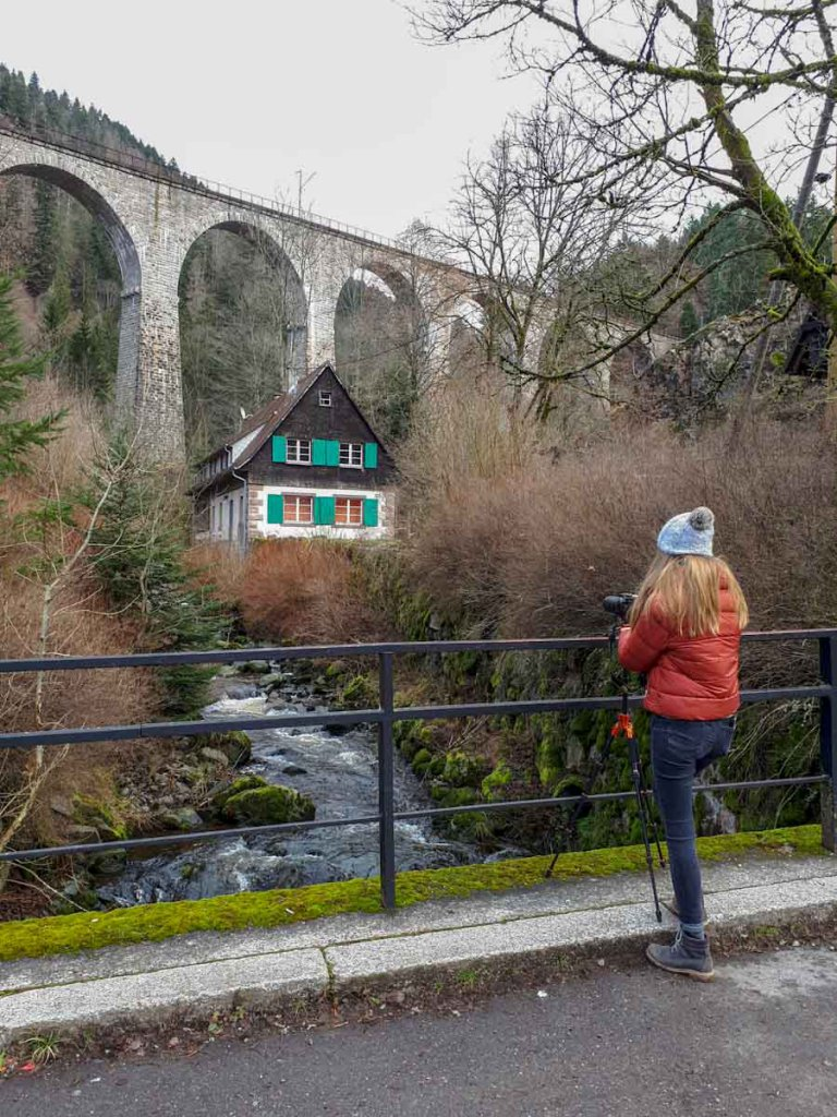 Fotoshooting an der berühmten Ravennabrücke im Höllental im Schwarzwald