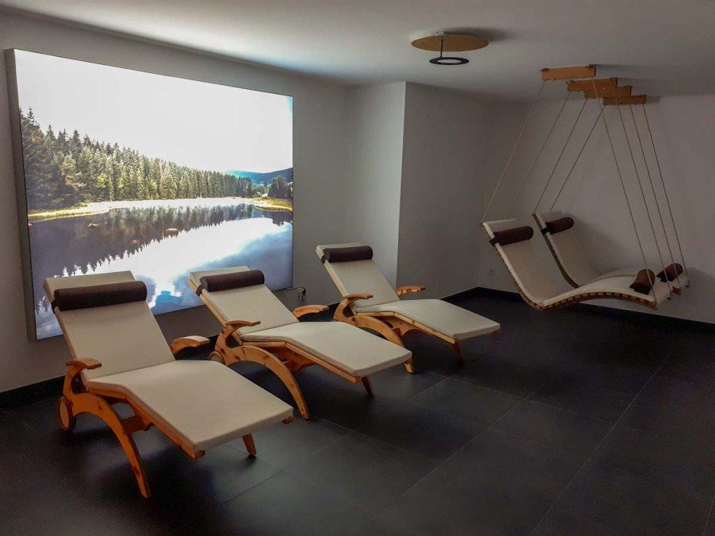Ruheraum im Wellnessbereich der Waldfunkeln Lodge Hinterzarten