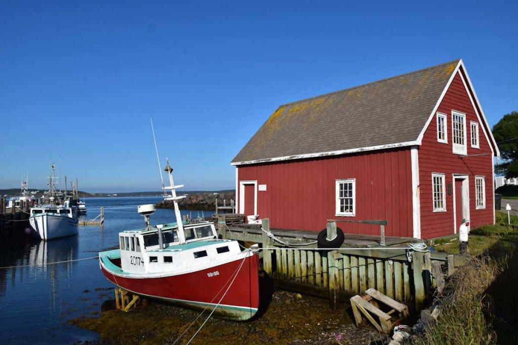 Farbenfrohes Brier Island an der Ostküste Kanadas