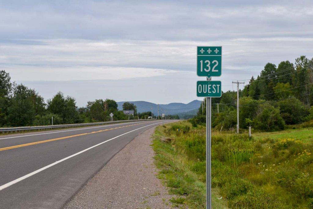 Eine der schönsten Panoramastrassen Kanadas, die Route 132 in der Gaspésie