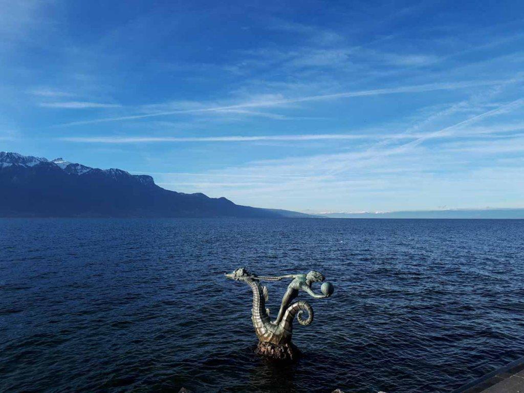 Zwischenstopp am traumschönen Genfer See bei Vevey