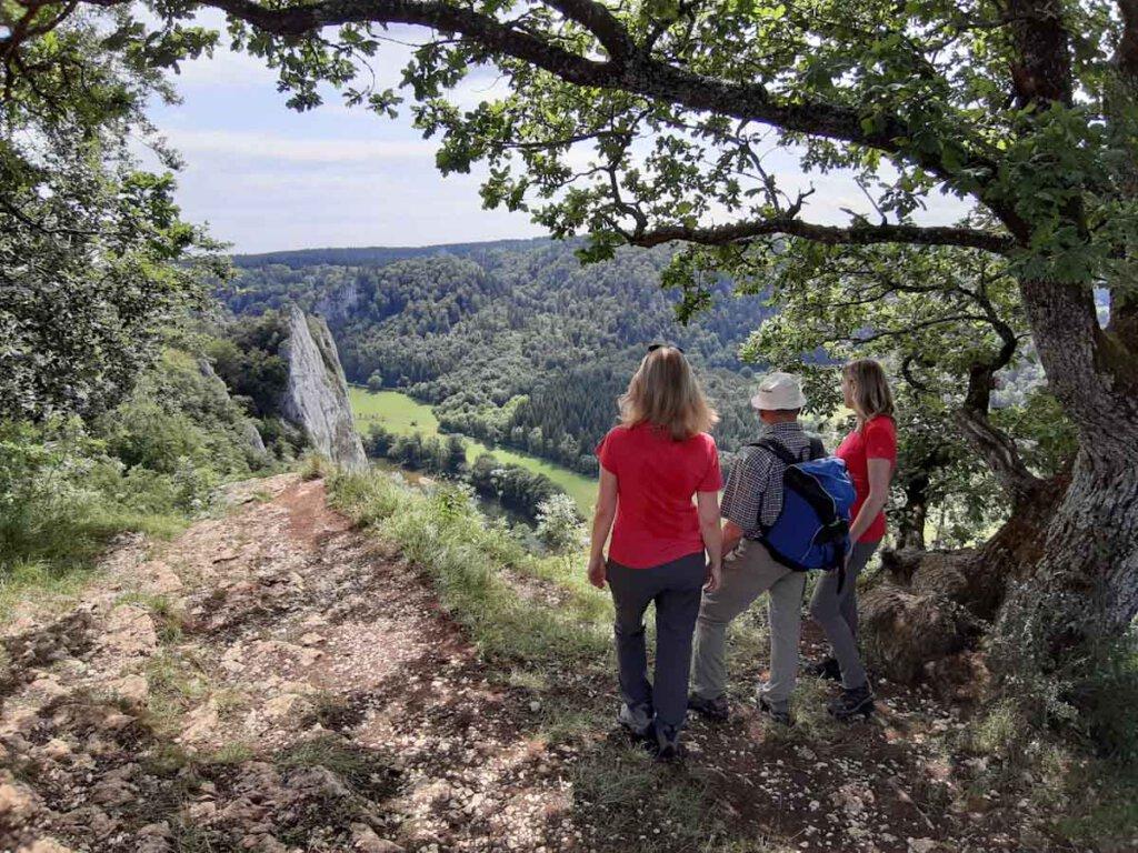 Herrliche Ausblicke bei unserer Familienwanderung im Oberen Donautal