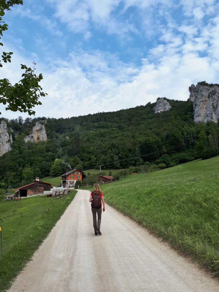 Durchs herrliche Donautal Wandern auf dem Talweg beim Jägerhaus