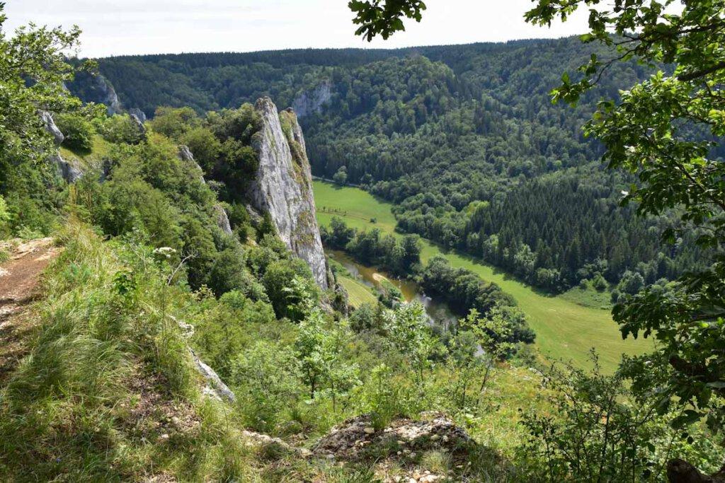Atemberaubende Aussichten ins Obere Donautal von Stiegelesfelsen