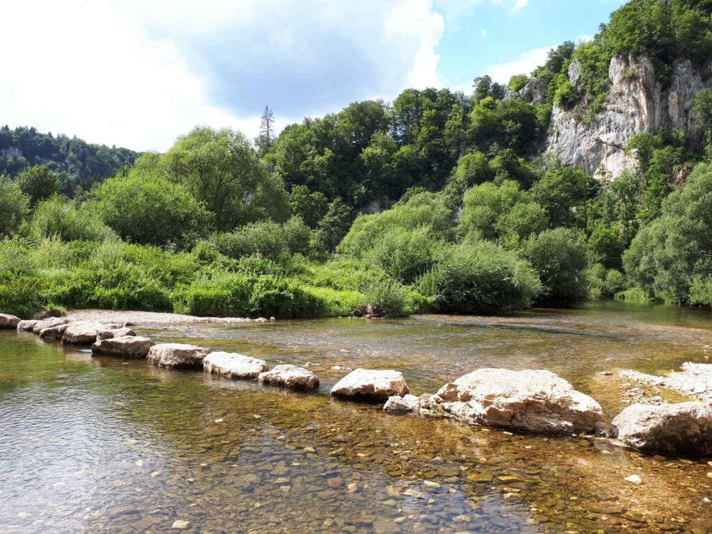 Überquerung der Donaufurt beim Jägerhaus