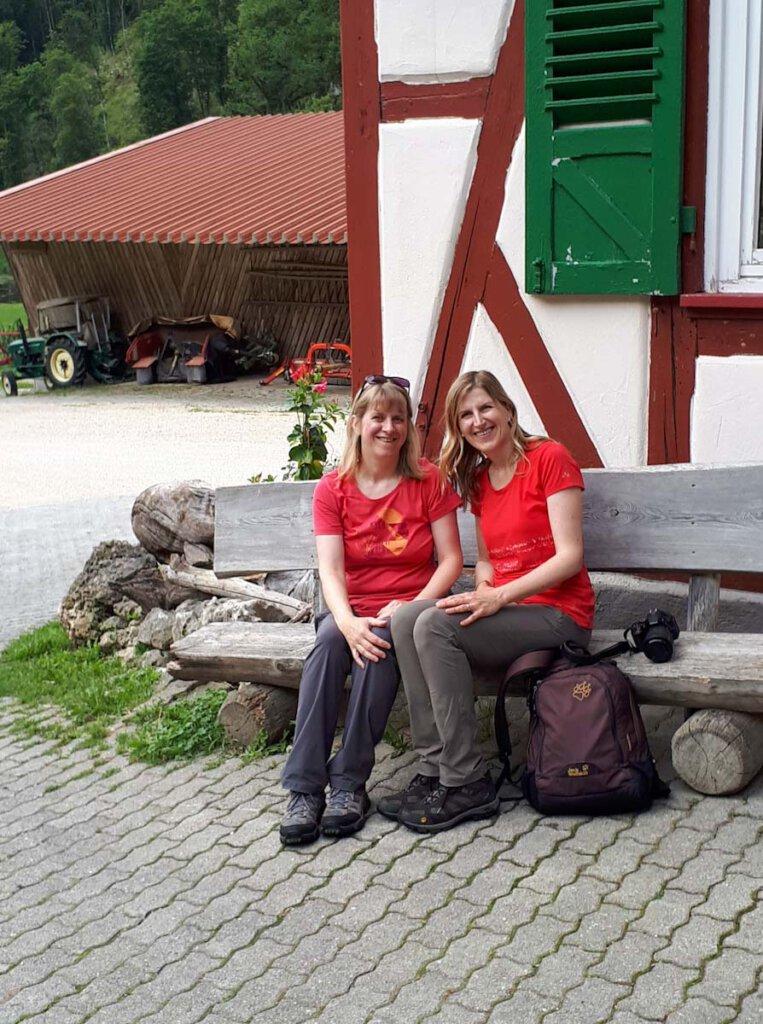 Mit meiner Schwester bei der Donautal Wanderung