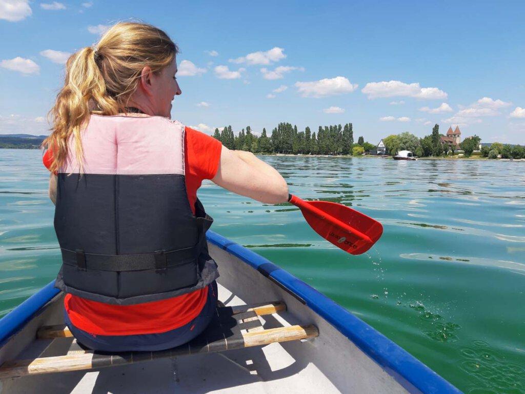 Kanufahren auf dem Bodensee im Urlaub daheim