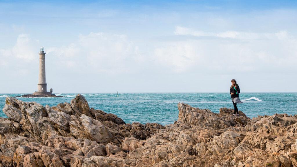 Urlaub in Europa: Der Leuchtturm von Goury in der Normandie