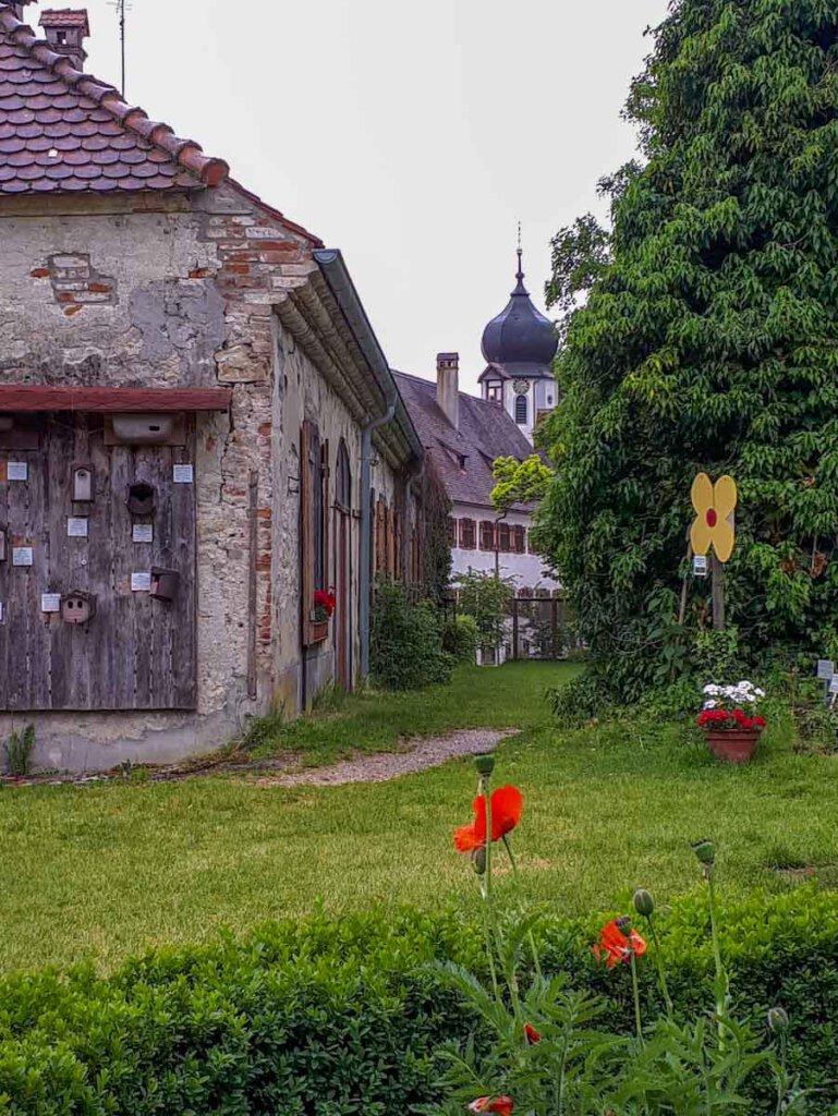 Im Kräutergarten von Kloster Inzigkofen im Donautal