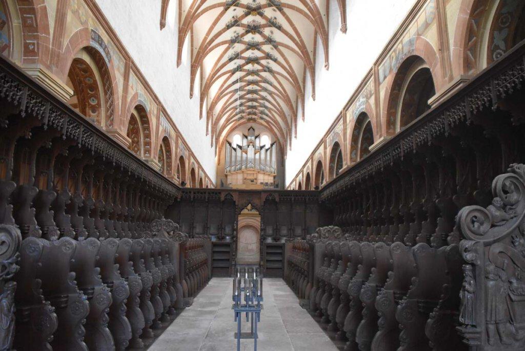 Das beeindruckende Chorgestühl der Klosterkirche Maulbronn