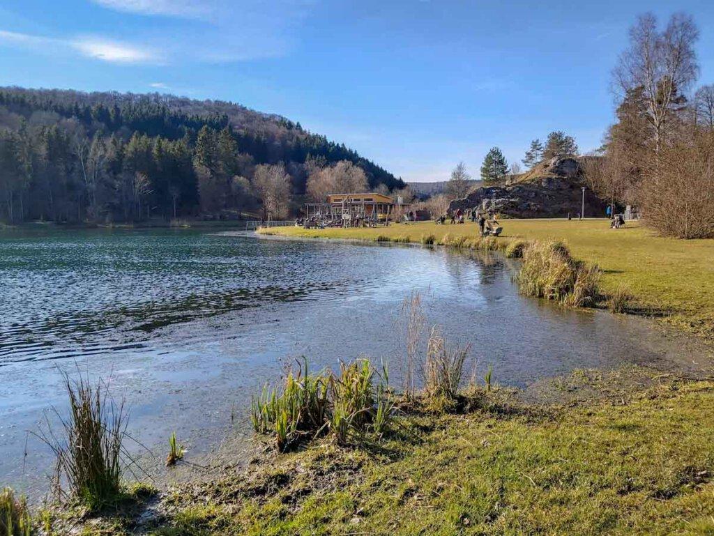 Erholung am Lauchertsee bei Mägerkingen